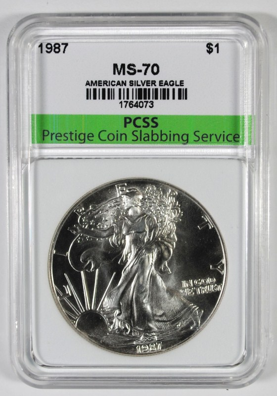 1987 AMERICAN SILVER EAGLE, PCSS PERFECT GEM BU