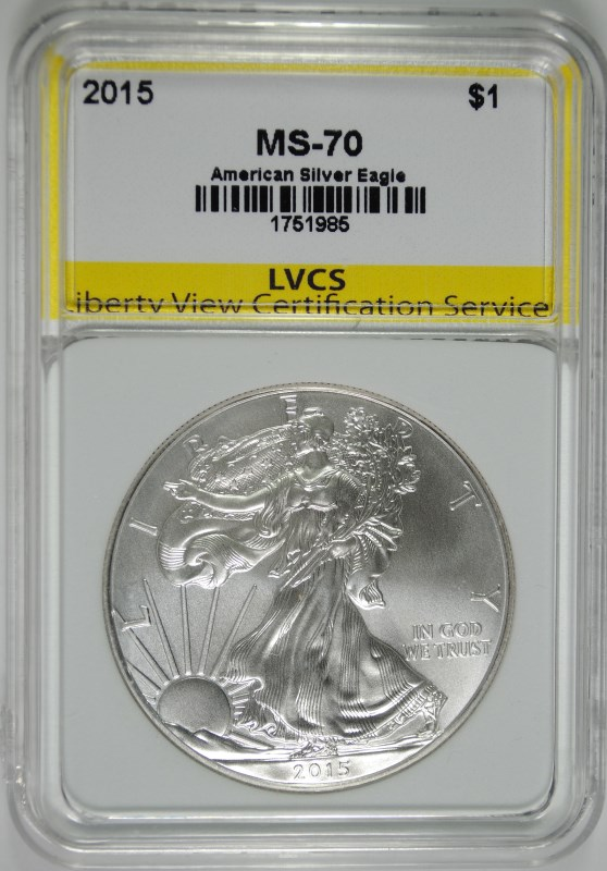 2015 AMERICAN SILVER EAGLE, LVCS PERFECT GEM BU