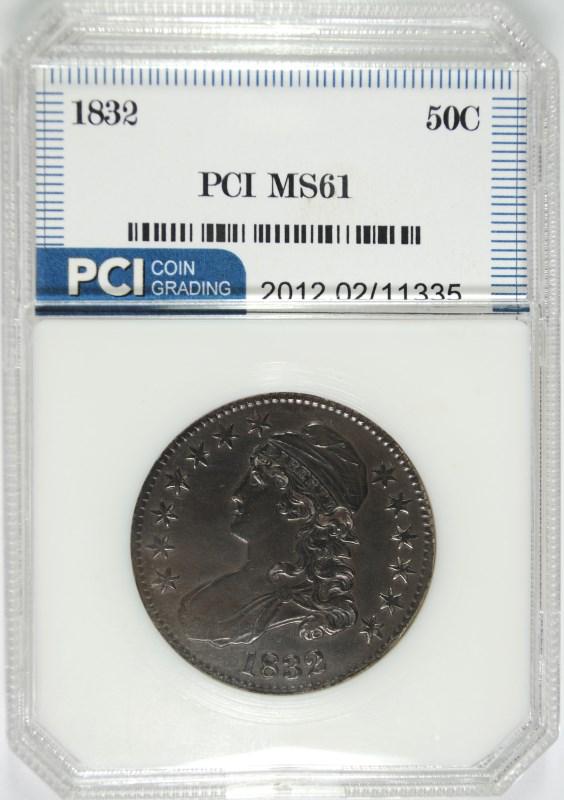1832 CAPPED BUST HALF DOLLAR PCI CH BU