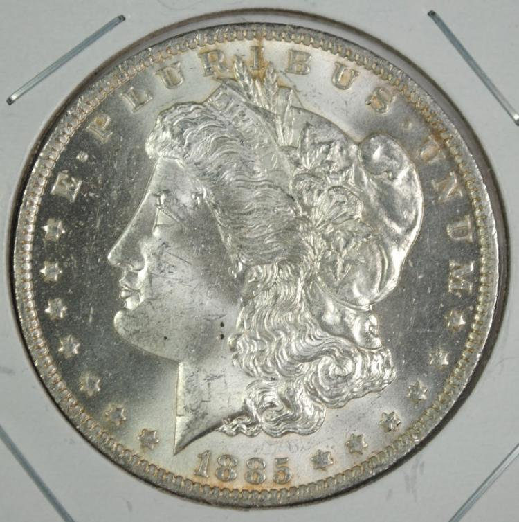 1885-O MORGAN SILVER DOLLAR GEM