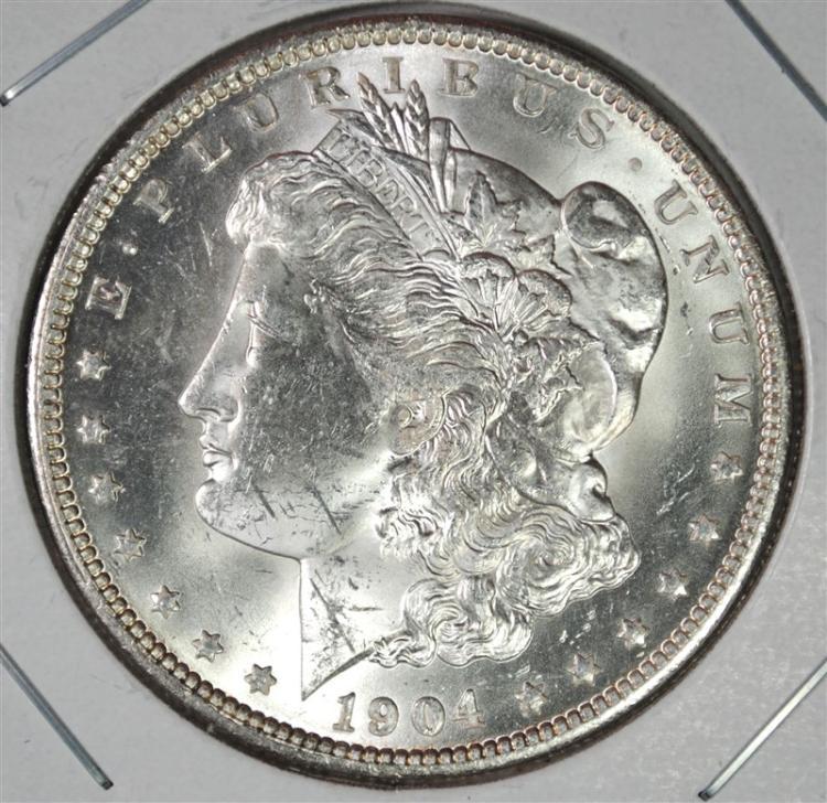 1904-O MORGAN SILVER DOLLAR CH BU