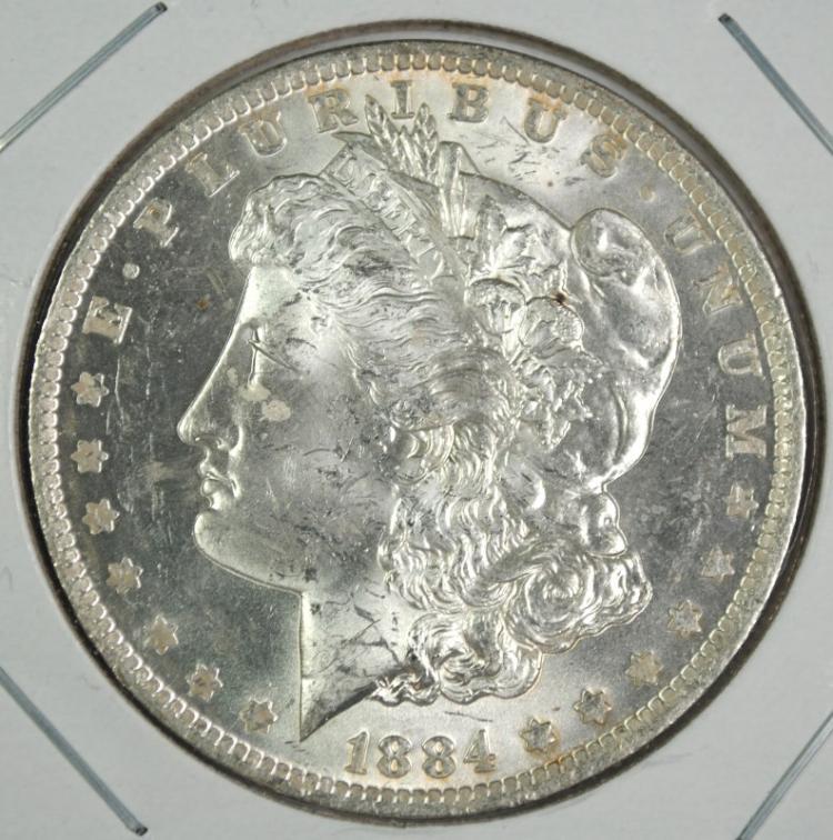 1884-O MORGAN SILVER DOLLAR CH BU