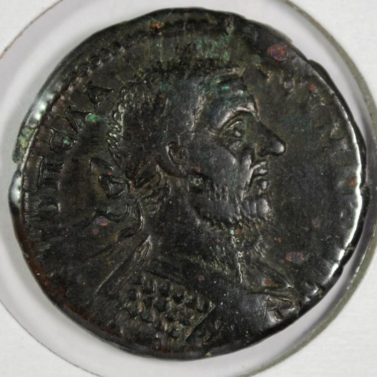 ANCIENT COIN ROMAN MACRINUS 217-218-AD