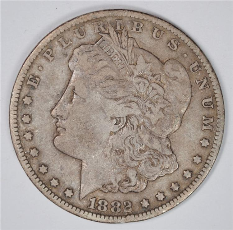 1882-CC MORGAN SILVER DOLLAR FINE-VF