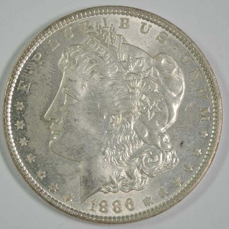 1886 MORGAN DOLLAR CH BU