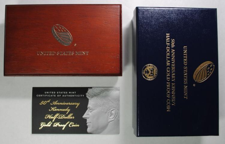 2014-W Kennedy Half Dollar 50th Anniversary Gold PROOF Coin