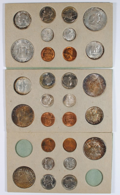 1949 U.S. 100% ORIGINAL GOVERNMENT DOUBLE MINT SET, 2 OF ALL COINS