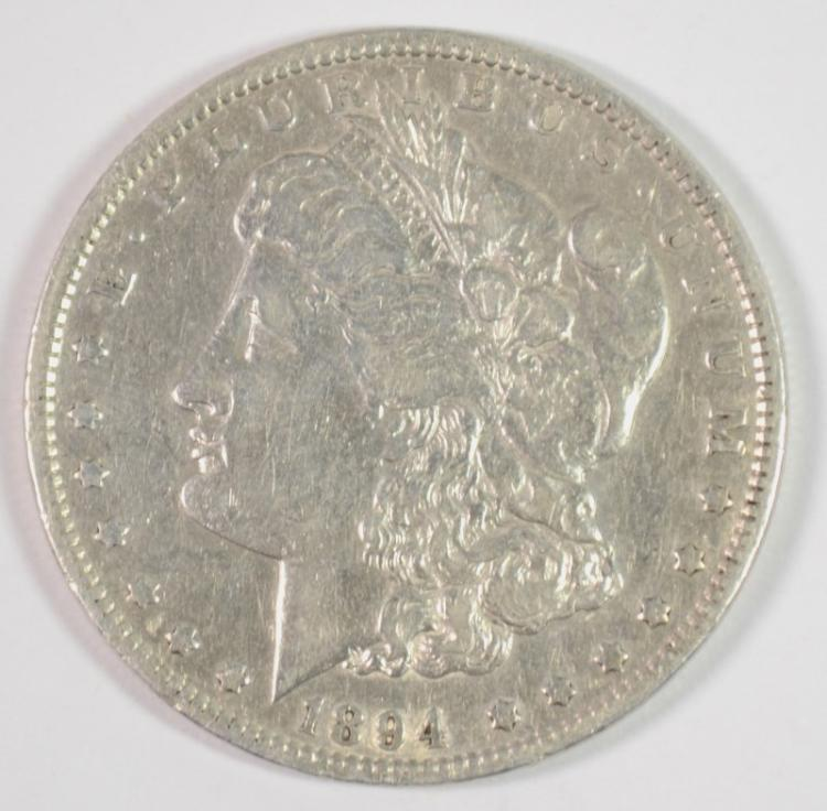 1894 MORGAN SILVER DOLLAR XF  RARE, KEY!