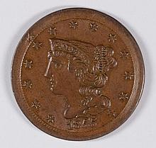 1855 HALF CENT MS-63