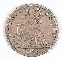 1858-O SEATED HALF DOLLAR VF-35