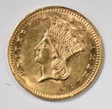 1862 $1 GOLD INDIAN PRINCESS HEAD