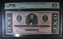 1864 $1 CONFEDERATE STATES OF AMERICA