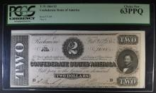 1864 $2 CONFEDERATE STATES OF AMERICA