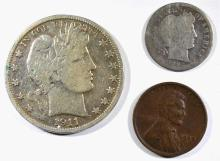 COLLECTORS LOT: CENT, DIME, & HALF