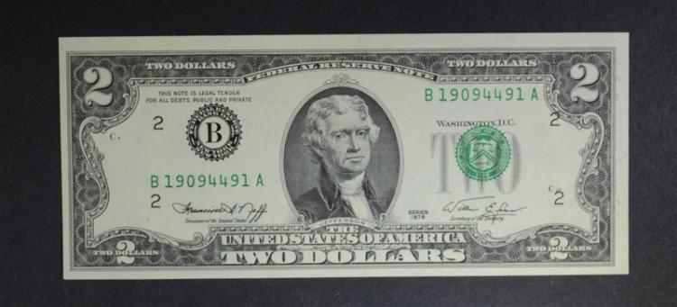 1976 $2 LEGAL TENDER FEDERAL RESERVE NOTE