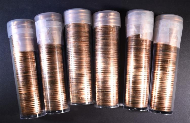 6-BU MIXED DATE SMS LINCOLN CENT ROLLS