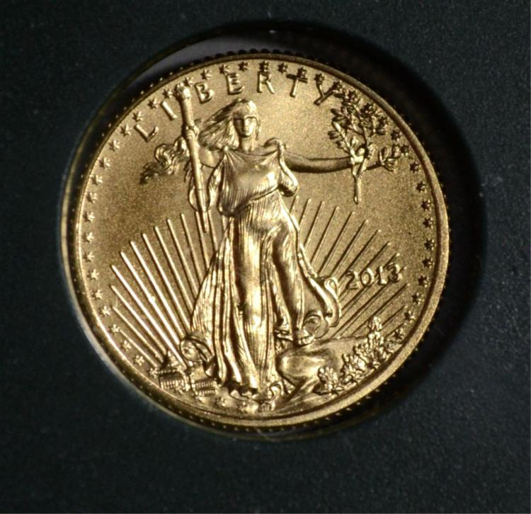 2013 1/10th oz AMERICAN GOLD EAGLE, GEM BU