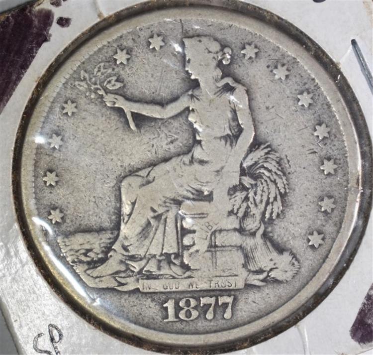 1877-S TRADE DOLLAR, VG