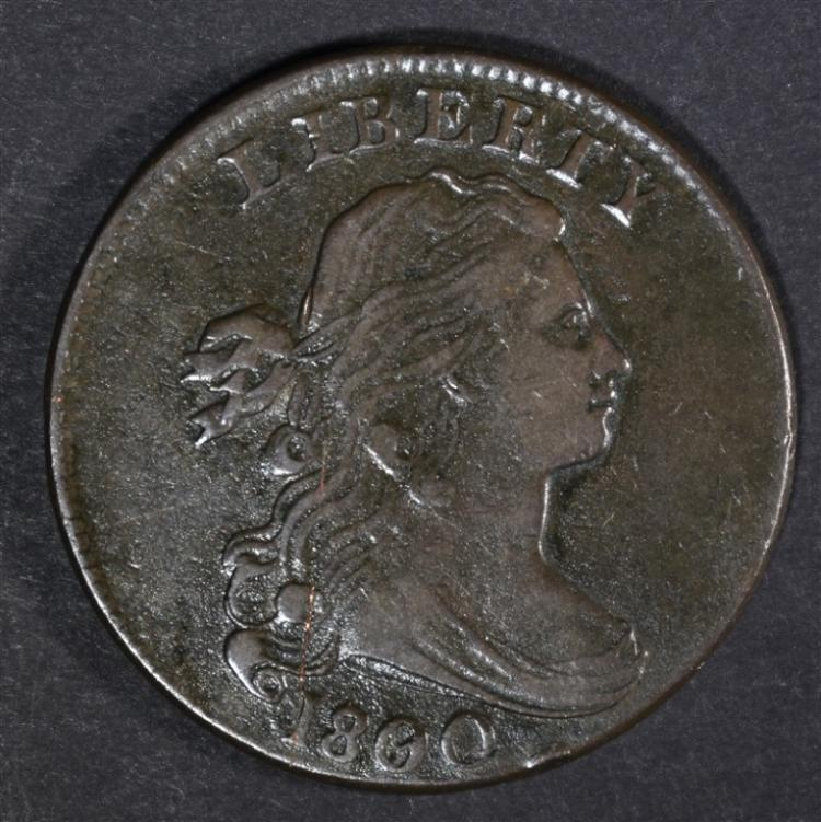1800/79 DRAPED BUST LARGE CENT NEAR XF