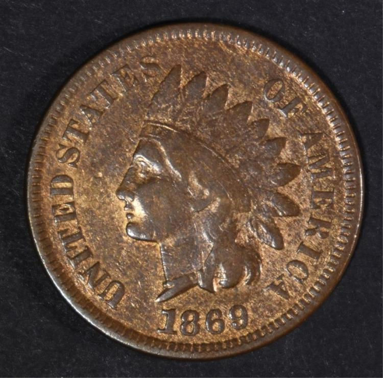 1869 INDIAN HEAD CENT VG/FINE