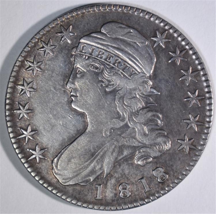 1818/17 CAPPED BUST HALF DOLLAR XF