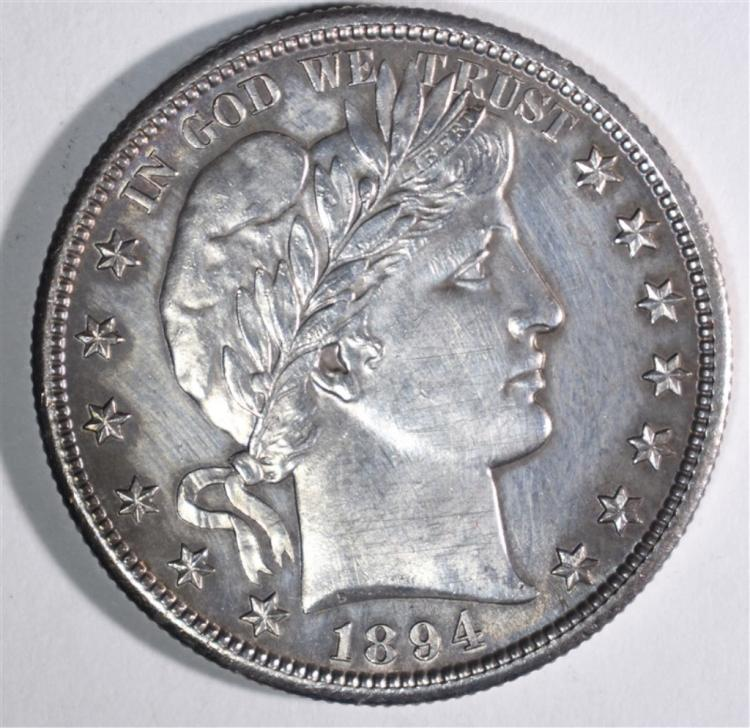 1894-S BARBER HALF DOLLAR AU