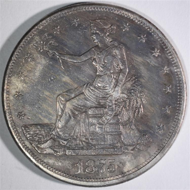 1875-CC TRADE DOLLAR AU