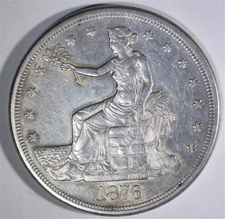 1876-S TRADE DOLLAR XF-AU