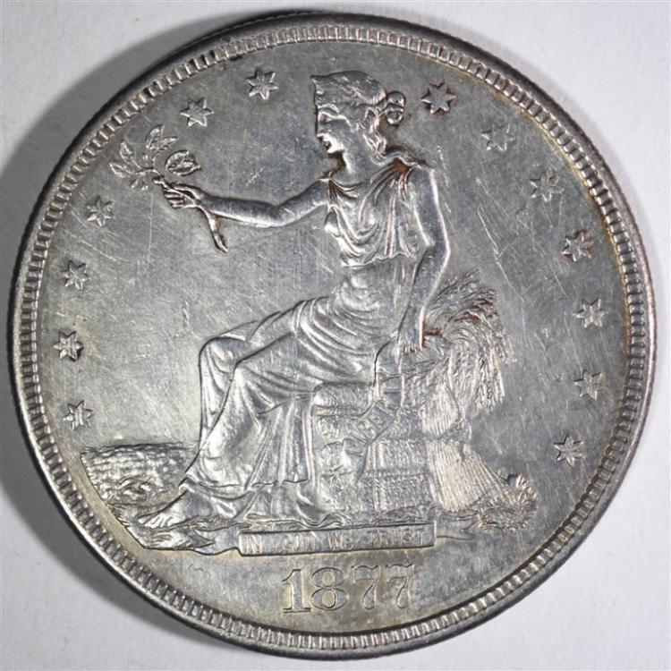 1877-S TRADE DOLLAR XF-AU