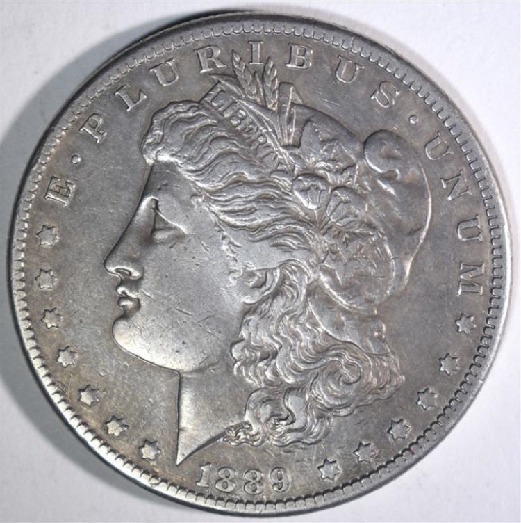 1889-CC MORGAN DOLLAR XF+