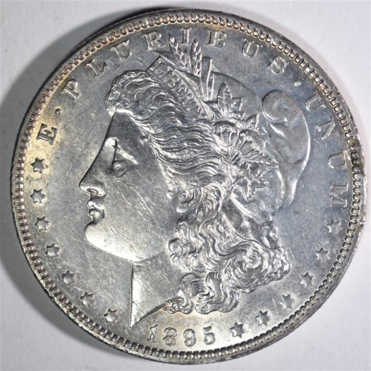 1895-O MORGAN DOLLAR CH AU
