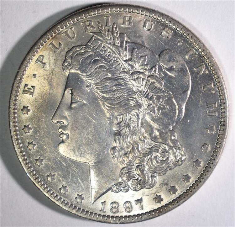 1897-O MORGAN DOLLAR CH BU+
