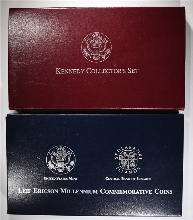 2000 LEIF ERICSON & 1998 KENNEDY SILVER PROOF SETS