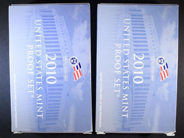 (2) 2010 Proof Sets.