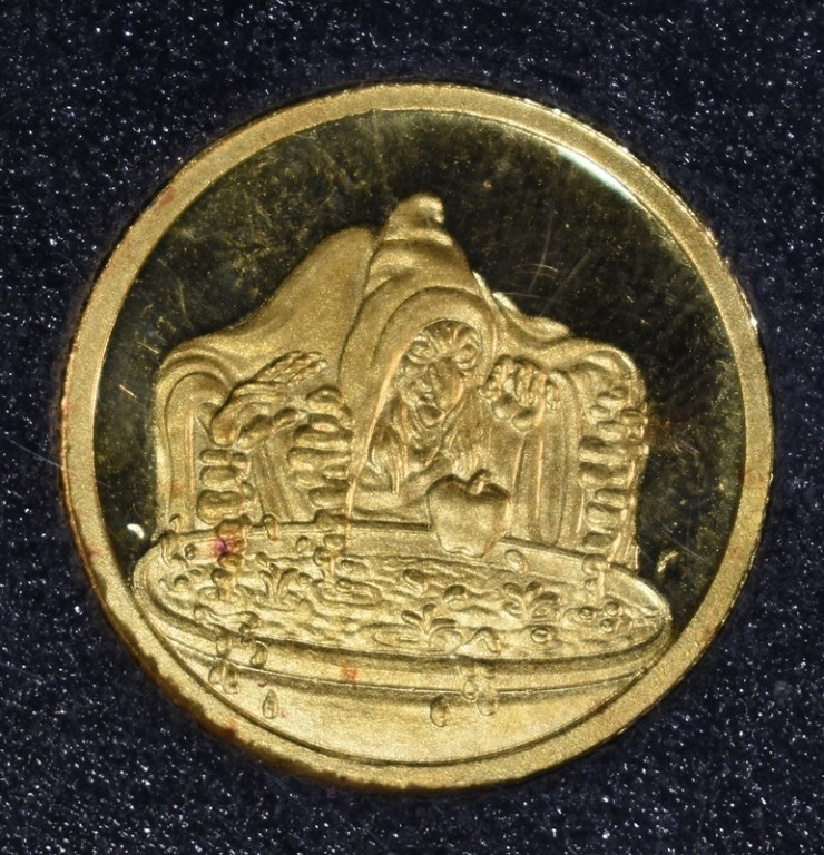DISNEY 1/4 Oz .999 GOLD