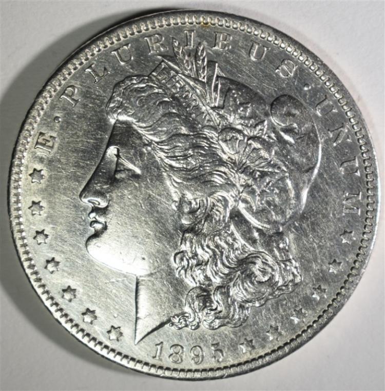 1895-O MORGAN DOLLAR AU