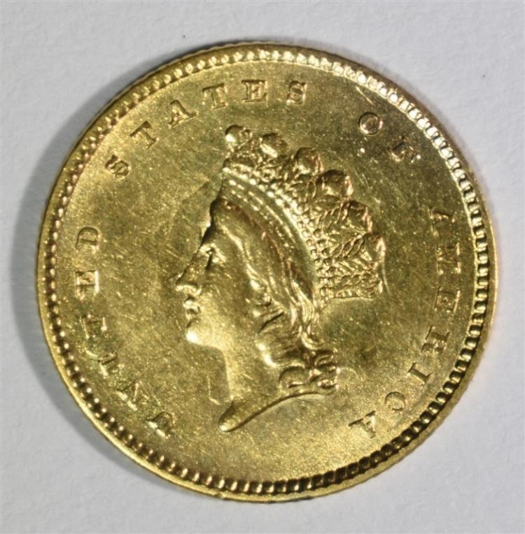 1854 GOLD $1 TYPE 2 NICE BU