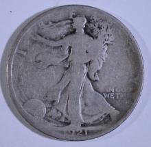 1921 WALKING LIBERTY HALF DOLLAR,  GOOD  KEY DATE