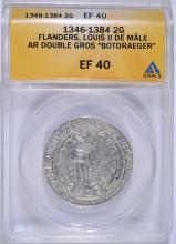 1346-1384 SILVER 2G FLANDERS (BELGIUM) ANACS EF 40