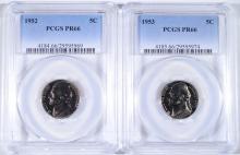 PCGS GRADED JEFFERSON NICKELS: 1952 PR-66 &  1953 PR-66