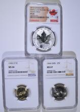 NGC GRADED COIN LOT: SEE DESCRIPTION