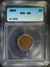 1894/4 INDIAN HEAD CENT, ICG G-4