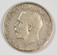 1920 Great Britain Shilling, AU, 50% Silver, .0909 ozt, KM#816A