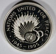 1995 Great Britain Two Pounds, PROOF, 92.5% Silver, .4752 ozt KM#971a