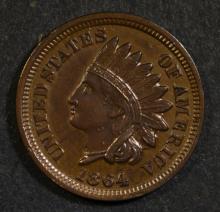 1864 INDIAN HEAD CENT AU/UNC