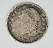 1833 Bust Dime, XF-AU ORIGINAL  rim ding
