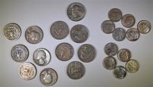 11 - SILVER ROOSEVELT DIMES 5-'64, '48, '50, 2-'57, '58-D, '60-D AU/BU's and