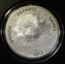OFFICIAL LONDON 2012 UK 5oz SILVER COIN - LONDON OLYMPIC GAMES, ORIGINAL BOX/COA