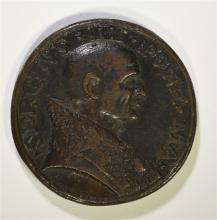 BRONZE PAPAL MEDAL: POPE SERGIUS II 904-911