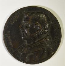 BRONZE PAPAL MEDAL POPE LEO IV 847-855